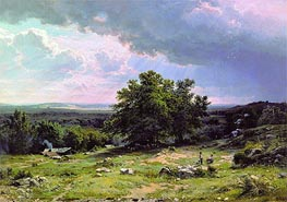 View in the Vicinity of Dusseldorf, 1865 by Ivan Shishkin | Painting Reproduction