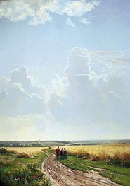 Noon in the Neighbourhood of Moscow, 1869 by Ivan Shishkin | Painting Reproduction