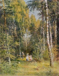 Birch Grove, 1878 by Ivan Shishkin | Painting Reproduction