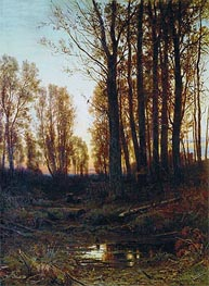 Dusk. Sunset, 1879 by Ivan Shishkin | Painting Reproduction