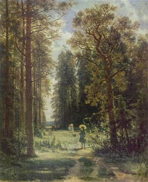 Forest Walk, 1880 by Ivan Shishkin | Painting Reproduction