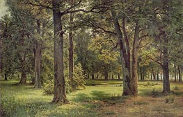 Peter The Great's Oak Grove in Sestroretsk, 1886 von Ivan Shishkin | Gemälde-Reproduktion
