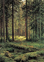 Pine Forest, Sunny Day | Ivan Shishkin | Painting Reproduction