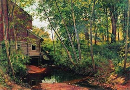 A Mill in the Forest near Preobrajenskaya Railway | Ivan Shishkin | Painting Reproduction