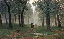 Rain in an Oak Forest | Ivan Shishkin | Gemälde Reproduktion