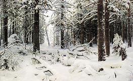 Winter | Ivan Shishkin | Painting Reproduction