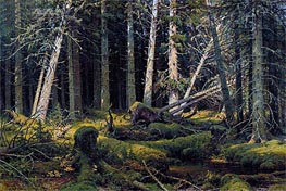 Trees Felled by the Wind (Vologda Woods) | Ivan Shishkin | Painting Reproduction