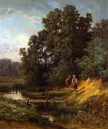 At the Creek | Ivan Shishkin | Painting Reproduction