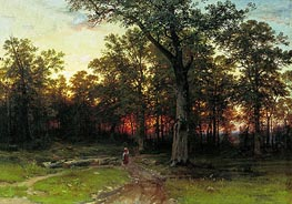 Wood in the Evening, 1868/69 by Ivan Shishkin | Painting Reproduction
