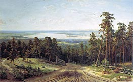 Kama near Yelabuga | Ivan Shishkin | Painting Reproduction