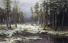 The First Snow | Ivan Shishkin | Painting Reproduction