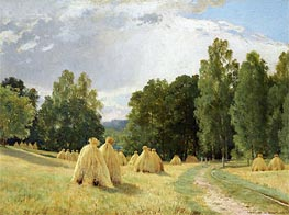 Haystacks, Preobrazhenskoe | Ivan Shishkin | Painting Reproduction