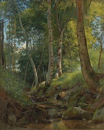 The Brook, undated by Ivan Shishkin | Painting Reproduction
