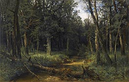 The Dark Wood, 1876 by Ivan Shishkin | Painting Reproduction