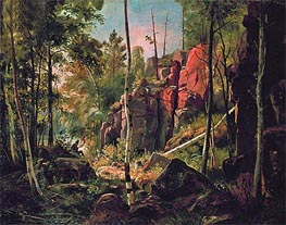 View of Valaam Island (Locality Kukk), c.1859/60 by Ivan Shishkin | Painting Reproduction