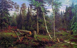 Logging, 1867 by Ivan Shishkin | Painting Reproduction
