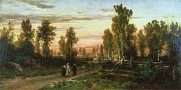 Evening, 1871 by Ivan Shishkin | Painting Reproduction