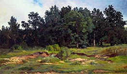 Oak Woods in Gray Day | Ivan Shishkin | Painting Reproduction