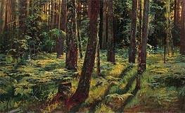 Ferns in the Forest. Siverskaya, 1883 by Ivan Shishkin | Painting Reproduction