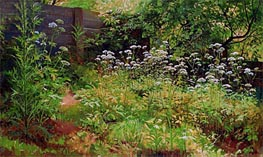 Goutweed-Grass. Pargolovo, c.1884/85 by Ivan Shishkin | Painting Reproduction