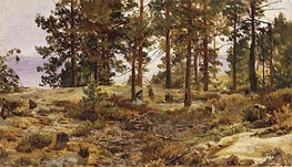On a Sandy Soil, c.1889/90 by Ivan Shishkin | Painting Reproduction