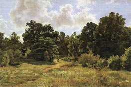 Edge of Deciduous Woods, 1895 by Ivan Shishkin | Painting Reproduction
