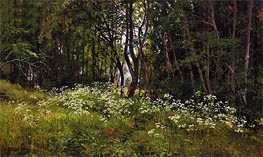 Flowers at the Forest Edge, 1893 by Ivan Shishkin | Painting Reproduction