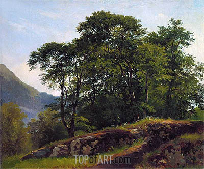 Beach Forest in Switzerland, 1863 | Ivan Shishkin | Painting Reproduction
