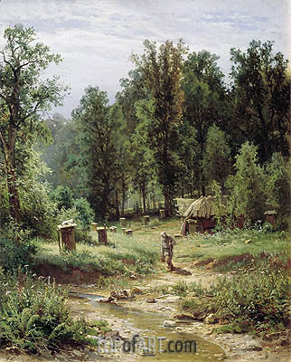 Apiary in the Wood, 1876 | Ivan Shishkin | Gemälde Reproduktion