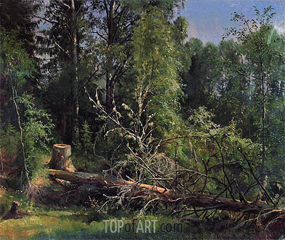 Felled Tree, 1875 | Ivan Shishkin | Painting Reproduction