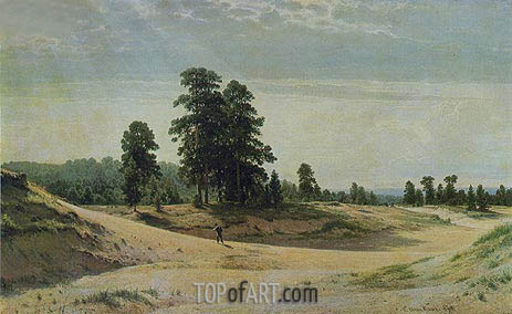 The Sands, 1887 | Ivan Shishkin | Painting Reproduction