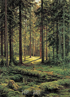 Pine Forest, Sunny Day, 1895 | Ivan Shishkin | Painting Reproduction