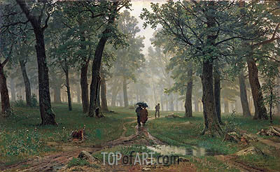 Rain in an Oak Forest, 1891 | Ivan Shishkin | Painting Reproduction
