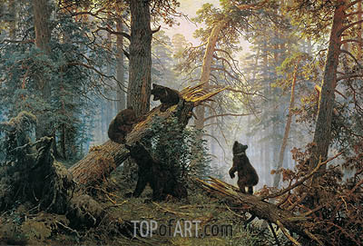 Morning in a Pine Forest, 1889 | Ivan Shishkin | Painting Reproduction