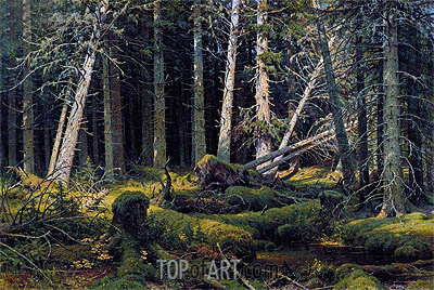 Trees Felled by the Wind (Vologda Woods), 1888 | Ivan Shishkin | Painting Reproduction