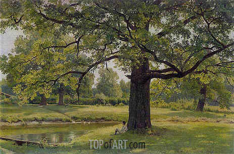 Oak Trees in Old Peterhof, 1891 | Ivan Shishkin | Painting Reproduction