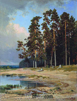 The Forest, 1885 | Ivan Shishkin | Gemälde Reproduktion