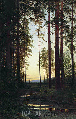 Dusk, 1883 | Ivan Shishkin | Painting Reproduction