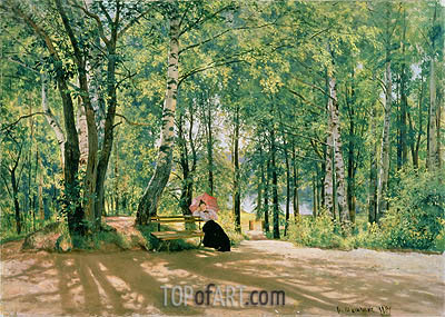 At the Summer Cottage, 1894 | Ivan Shishkin | Painting Reproduction