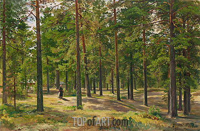 In the Pine Forest, 1889 | Ivan Shishkin | Gemälde Reproduktion
