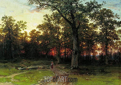 Wood in the Evening, 1868/69 | Ivan Shishkin | Gemälde Reproduktion