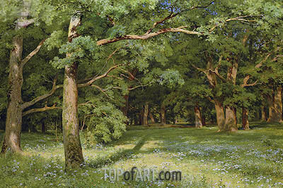 The Forest Clearing, 1896 | Ivan Shishkin | Gemälde Reproduktion