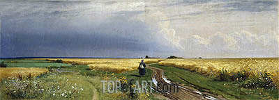 Road in the Rye, 1866 | Ivan Shishkin | Painting Reproduction