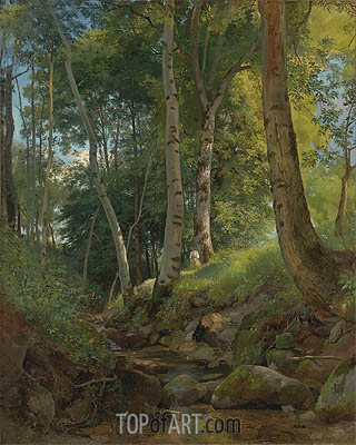 The Brook, undated | Ivan Shishkin | Gemälde Reproduktion