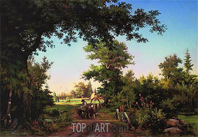 View from the Vicinity of St. Petersburg, 1856 | Ivan Shishkin | Gemälde Reproduktion