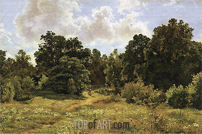 Edge of Deciduous Woods, 1895 | Ivan Shishkin | Painting Reproduction