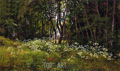 Flowers at the Forest Edge, 1893 | Ivan Shishkin | Gemälde Reproduktion