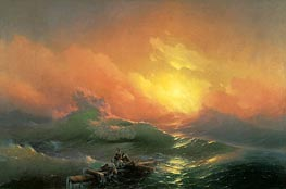 The Ninth Wave, 1850 by Aivazovsky | Painting Reproduction