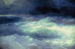Among the Waves, 1898 by Aivazovsky | Painting Reproduction
