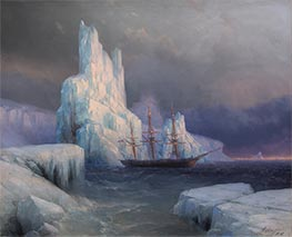 Ice Mountains in Antarctica, Icebergs | Aivazovsky | Painting Reproduction